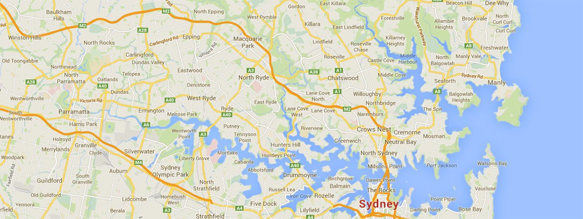 Google Map of Northern Suburbs